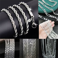 wholesale 925 Sterling Silver Rope Chain Twist Necklace Wedding Jewellery Unisex