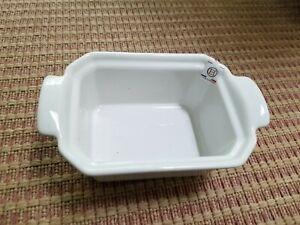 "NWT Emile Henry Casserole Dish Ceramic Small Rectangle white ""58.60"""