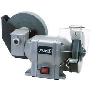 "Draper 200mm 8"" Wheel Wet Stone Blade Honing Sharpener Bench Grinder, 78456"