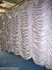 6m x 3m white Austrian Festoon Stage curtain.6x3 6mtr x 3mtr