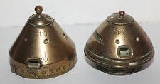 travail de poilu ( encrier ) tranchée guerre 14-18 2 obus dopp.z 91 et dopp.z 92