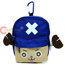 One Piece Chopper Mini Backpack Pouch Bag Key Chain Coin Wallet - Blue