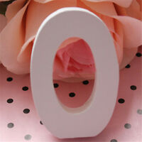 0-9 White Wooden Numbers Alphabet for Wedding Birthday Party Home Decoraction