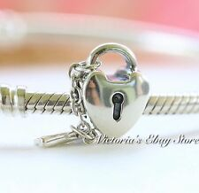 AUTHENTIC PANDORA STERLING SILVER CHARM KEY TO MY HEART 790971