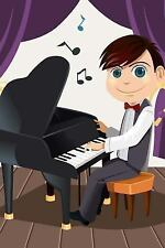 Boy Playing Piano Journal : 150 Page Lined Notebook/diary by Cool Image...