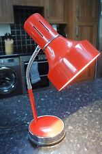 Vintage Retro 1970s Red lamp spotlight with Goose Neck