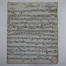 HAYDN symphony 99 , violin 2 part , antique music manuscript