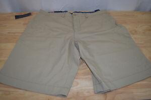 Tommy Hilfiger Men's Classic Fit Flat Front 100% Cotton Shorts Assorted Colors