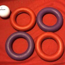 "4 Rubber Ring 3.5"" Hard Wearing Tough Exerciser Interactive Fetch Throw Retrieve"