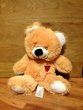 Furry Bear Soft Toy, With Heart.