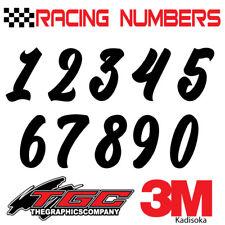 Racing Numbers Vinyl Decals Stickers Boat Car Bmx Bike Off Road Sprint Quad Kad
