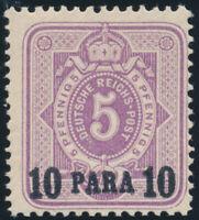 DP TÜRKEI, MiNr. 1 b, tadellos postfrisch, Fotoattest Jäschke-L., Mi. 950,--