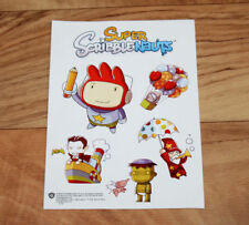 Super Scribblenauts Nintendo DS Promo Aufkleber / Sticker Set