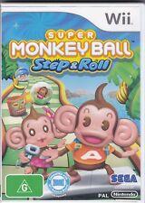 Wii Game - Super Monkey Ball Step & Roll (Nintendo) PAL