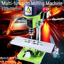Mini Milling Machine Work Table Cross Slide Drilling Press Vise Fixture Set