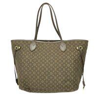 Louis Vuitton Neverfull MM M40513 Monogram Idylle Canvas Shoulder Tote Bag Brown