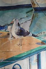 Fisherman's Wharf San Francisco Original Painting One-of-a-kind Watercolor