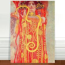 "Gustav Klimt Hygeia ~ FINE ART CANVAS PRINT 8x10"""