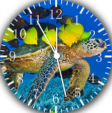 "Tropical Ocean Turtle Fish wall Clock 10"" will be nice Gift Room wall Decor E87"