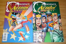 Convergence Action Comics #1-2 FN/VF complete series  wonder woman vs power girl
