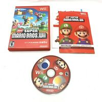 New Super Mario Bros Wii 2009 Nintendo Red Case Complete CIB Tested