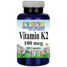 Vitamin K2 100mcg - Menaquinone 7 (MK-7)  200 Caps