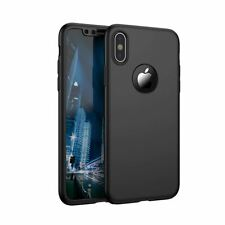 Apple iPhone XR Full Coverage Case Cover with Tempered Glass