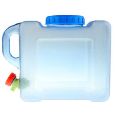 5L Portable Outdoor Camping Water Storage Carrier Container Jerry Can Tap