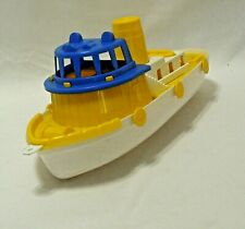 """Vintage Amloid Corp Toy Plastic Tug Boat 13"""" Long New Jersey"""