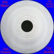 Ceiling Rose Resin Strong Lightweight Design Not Polystyrene Easy Fix 40.5cm