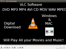 VLC Media Player Play DVDs CDs Stream Media YouTube Fast Digital Download
