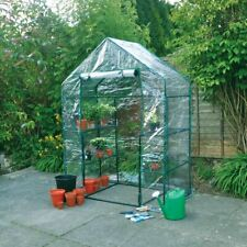 NEW Walk-in Greenhouse with metal  frame & 4 shelves, for plants & veg (3 tier)