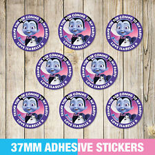 Vampirina Birthday Party Stickers, Thank you, Sweet cone Labels x 35