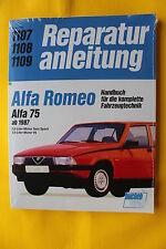 Alfa Romeo 75   2.0 3.0 V6  Reparaturanleitung Handbuch