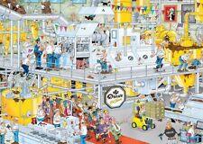 NEW! Jumbo The Chocolate Factory by Jan van Haasteren 1000 piece comic jigsaw