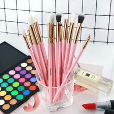 12Pcs Makeup Brushes Foundation Powder Eyeshadow Eyeliner Pink For Woman Girl