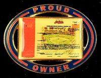 Vintage 1998 MLB Cleveland Indians IPO Stock Holder Lapel Pin Jacobs Field Mint!