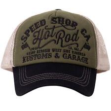 Hellmotors Flexfit Snapback Trucker Cap Old School Hotrod Capuchon v8 Rockabilly