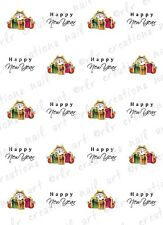 20 NAIL DECALS * HAPPY NEW YEAR CLOCK DESIGN*  WATER SLIDE NAIL DECAL