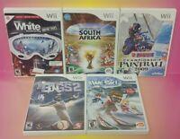 Nintendo Wii Wii U Games LOT Fifa Soccer Bigs 2 We Ski Paintball Snowboarding