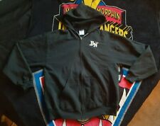 Brand New rock band logo black zip up hoodie size large - FREE USA SHIPPING