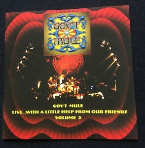 GOV'T MULE - LIVE WITH A LITTLE HELP FROM OUR FRIENDS Vol. 2  New Year's Eve '98