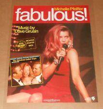 The Fabulous Baker Boys Poster Original 1989 Promo 24x18 Michelle Pfeiffer