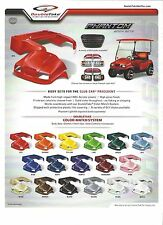 """Club Car PHANTOM Golf Cart Body Set With Deluxe Street Light Kit and 80"""" Top"""