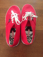 AIRWALK CARVE UNISEX SHOES SNEAKERS CASUAL LACE UP, Size US10, RED