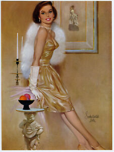 Vintage 1960s Fine Fritz Willis Brown & Bigelow Pin Up Print Sophisticated Lady