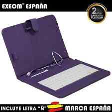 """Funda con Teclado en Español para Tablet Pc 10"""" CoverPAD Morada Marca España"""