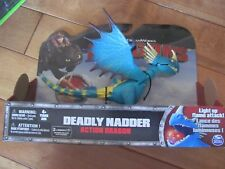 Dreamworks Dragon DEADLY NADDER Stormfly Light Up Flame Attack Action Figure NEW