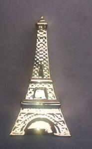 """Ceramic Gold Eiffel Tower 8""""x4""""x4"""" New"""