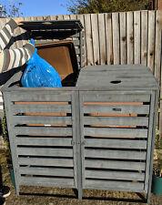 BinGarden double Wheelie bin Store tidy shed outdoor storage hide dustbin cover